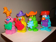 4 Pc. Complete Set Muppets Workshop McDonald's Happy Meal Toys Loose
