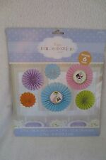 Baby Shower Mother To Be Fan Decoration Kit 6 Pieces New