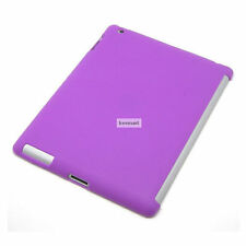 Purple New iPad 3 4 Gen Tpu Gel companion mate Case Works with Apple Smart Cover