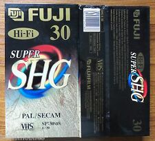 10 X Fuji Super High Grade SHG E-30 E30 30 MINS Half Hour Blank VHS Video Tapes