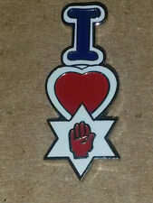 i love ulster Enamel badge orange order loyalist ulster scots red hand loyal