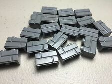 LEGO Lot of 20 Masonry Profile Bricks 1x2 Dark Bluish Gray - NEW- Authentic LEGO