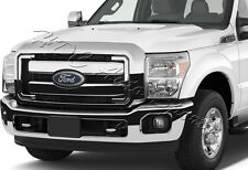 For F250 F350 F450 F550 Super Duty 1-Piece ABS Chrome Grille Full Overlay Cover