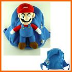Super Mario Bros. Kids Dark Blue Soft Plush Doll Backpack Rucksack Bag + GIFT