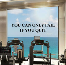 Inspirational Gym Wall Decal Sport Fitness Quote Vinyl Sticker Decor Mural 59fit