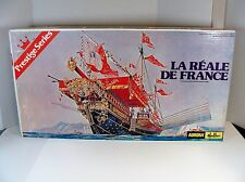 1977 AURORA/HELLER LA REALE DE FRANCE SHIP MODEL KIT 100% COMPLETE 1:75TH