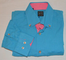 STUNNING IKE BEHAR TURQUOISE PINK MIAMI VICE SOUTH  BEACH Men Small S  Shirt
