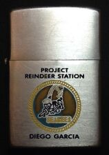 RARE SCARCE 1970 ZIPPO LIGHTER PROJECT REINDEER STATION DIEGO GARCIA SEABEES