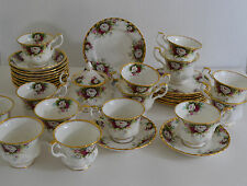 ROYAL ALBERT CELEBRATION SET OF 12 CUPS WITH SAUCER ,8 CAKE PLATES,SUGAR BOWL