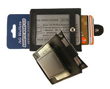 Mens Leather Expandable Magnetic Money Clip Front Pocket ID Credit Card Wallet