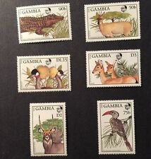 GAMBIA Fauna and Flora Stamp Set of 6  Bird Animal MINT NEVER HINGED MNH