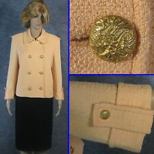GORGEOUS! ST JOHN KNIT LIGHT PEACH JACKET SZ 14