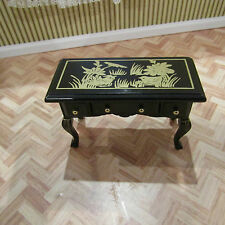 STREETS AHEAD DOLLS HOUSE BLACK CHINESE DRAWER TABLE,12TH SCALE, NEW