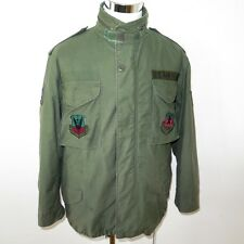 VINTAGE USAF US AIRFORCE 1985 M65 M-65 FIELD JACKET W LINER MEDIUM SHORT PATCHES
