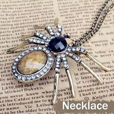 HALLOWEEN RHINESTONE SPIDER QUEEN TARANTULA NECKLACE  ARACHNE ARIADNE SHELOB FAE