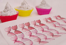Pink Butterfly Cake Topper Princess 30pc Mini Mad Hatter Fairy Rose Queen Musk