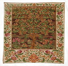 """NEW 18"""" WM MORRIS ARTS & CRAFTS TREE OF LIFE BELGIAN TAPESTRY CUSHION COVER 4052"""