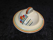 SUPER RARE ART DECO CLARICE CLIFF CROCUS PATTERN SOUP TUREEN LID STAMFORD SHAPE
