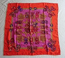 ~ AUTHENTIC HERMES LES RUBANS DU CHEVAL SILK SQUARE SCARF (A WORK OF ART!) ~