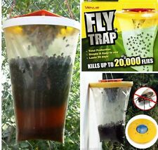 4x TOP RED DROSOPHILA FLY TRAPS CATCHERS THE ULTIMATE FLY CATCHER INSECT TRAP UK