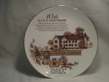 1990 Avon 10th Anniversary Plate California Perfume Co.  22K Gold Trim