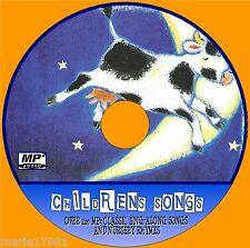 200+ SUPERB KIDS SONGS & NURSURY RHYMES MP3 AUDIO CD, CHILDRENS EDUCATIONAL NEW