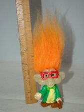1993 Glow in the Dark Burger King Doll Troll Orange Hair Kids Club I/Q 3""