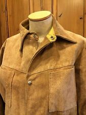 Vtg 60's Sears Suede Leather Jacket Two Pocket Snap Down USA