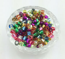 300pcs Mixed color Acrylic tube beads Rainbow Rubber Bands Loom Bracelet Crafts