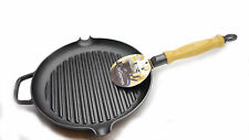 Gense Le Gourmet Cast Iron Grill Frying Pan 4606100 Solid Heavy Swedish Made