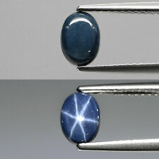 Only! $10.28/1pc 7x5mm Oval Cab Natural Sharp 6 Ray Dark Blue Star Sapphire