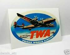 TWA Vintage Style Travel Decal / Vinyl Sticker,Luggage Baggage Label