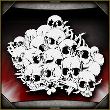 Skull Background 21 -  Airbrush Stencil Template Airsick