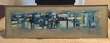 Christopher Sturgess-Lief (b.1937) Abstract Cityscape Oil on Board Painting Art