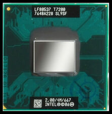 Intel SL9SF Core 2 Duo Mobile T7200 2.00GHz/4MB/667MHz Socket M CPU test  ok