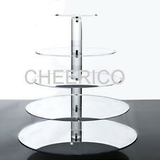 5 Tier Maypole Mirrored Effect Cupcake Stand Cupcake Tower