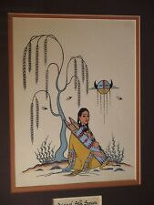 ACEE BLUE EAGLE VINTAGE SILK SCREEN/ HARD TO FIND /CUSTOM FRAMED