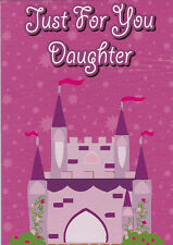 "Greeting Card - Birthday - ""JUST FOR YOU DAUGHTER"" - by Pacific Graphics!"