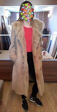 Genuine Italy Toscana Lamb fur and Sheepskin Shearling suede Long coat Sz M / L