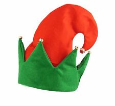 Christmas ELF Hat With bells Santa Xmas Fancy Dress Costume Accessory Party Hat