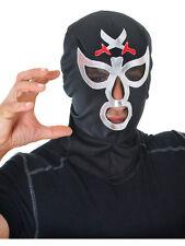 Mens Macho Wrestler Mask Ninja Hero Mysterio Halloween Fancy Dress Accessory New
