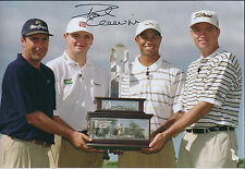 Paul LAWRIE SIGNED Autograph 12x8 Photo with Tiger Woods & Olazabal AFTAL COA