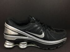 Nike Shox Turbo VII 7 Mens Size 10.5 Running Shoes Black Silver R4 NZ 324907 001