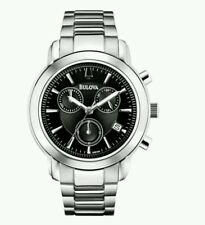 Bulova Men's Stainless Steel Chronograph Watch 96B199. New In Box. Free Delivery