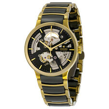 Rado Centrix Skeleton Dial Gold PVD Steel and Ceramic Mens Watch R30180162