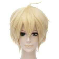 Seraph Of The End Mikaela Hyakuya Short Gold Full Wig Hair Unisex Cosplay Anime