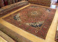 9.5 x 12.4 Handmade Antique 1940s Persian Tabriz Rug _ Vegetable Dye Nice Wool