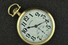 VINTAGE 16S ILLINOIS A. LINCOLN 21J POCKET WATCH FROM 1918 KEEPING TIME