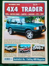 4X4 TRADER - DECEMBER 2000 Edition - 4WD MOTOR HOMES CAMPERS CARAVANS UTES VANS