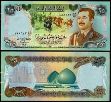 IRAQ 25 DINAR 1986 UNC But aAU / UNC P.73  WATERMARK: SADDAM HUSSEIN